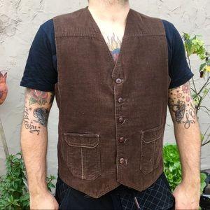 Brown Corduroy Levi's Vest M